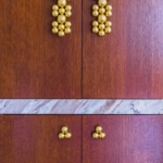 Custom Polished Lacquered Brass Bar Cabinet Handles