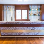 Custom Brass Bar Inlay, Brass Cabinet Strips and Beer Tap