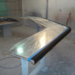 Custom Zinc Bar Top w/ Solid Walnut Edge