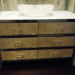 Custom Polished Stainless Steel Vanity Frame