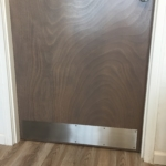 Custom Brushed Stainless Steel Door Toe Kick