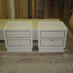 Custom Polished Nickel Bedside Table Drawers Frames