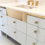 Custom Metal Bathroom Vanity Frame