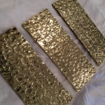 Hammered Polished Bronze Samples (Exclusive Finish)
