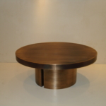 Custom Oil Rubbed Bronze Cladded Coffee Table