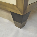 Close Up- Custom Oil Rubbed Bronze Cabinet Frame, Legs & Sabot