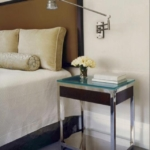 Custom Polished Stainless Steel Bedside Table