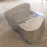 Custom Polished Kidney Shaped Coffee Table