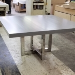 Custom Polished Stainless Steel Table Bases