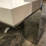 Custom Polished Stainless Steel Coffee Table Legs & Trim